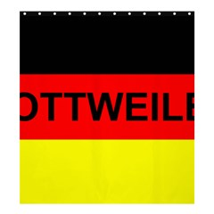 Rottweiler Name On Flag Shower Curtain 66  x 72  (Large)