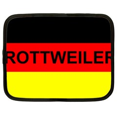 Rottweiler Name On Flag Netbook Case (XXL)