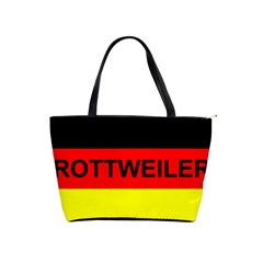 Rottweiler Name On Flag Shoulder Handbags