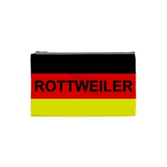 Rottweiler Name On Flag Cosmetic Bag (Small)