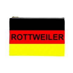 Rottweiler Name On Flag Cosmetic Bag (Large)
