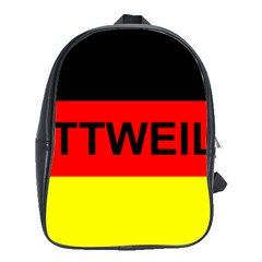 Rottweiler Name On Flag School Bags(Large)