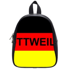 Rottweiler Name On Flag School Bags (Small)