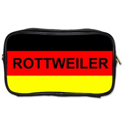 Rottweiler Name On Flag Toiletries Bags 2-Side