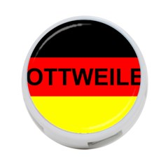 Rottweiler Name On Flag 4-Port USB Hub (Two Sides)