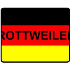 Rottweiler Name On Flag Fleece Blanket (Medium)