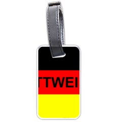 Rottweiler Name On Flag Luggage Tags (One Side)