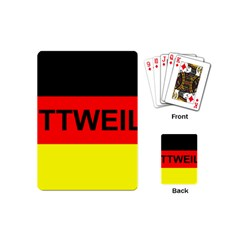 Rottweiler Name On Flag Playing Cards (Mini)