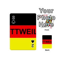 Rottweiler Name On Flag Playing Cards 54 (Mini)