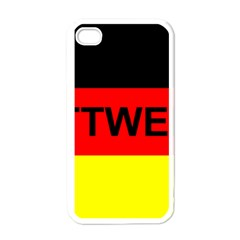 Rottweiler Name On Flag Apple iPhone 4 Case (White)