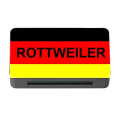 Rottweiler Name On Flag Memory Card Reader with CF