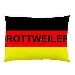 Rottweiler Name On Flag Pillow Case (Two Sides)