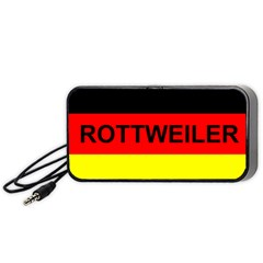 Rottweiler Name On Flag Portable Speaker (Black)