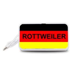 Rottweiler Name On Flag Portable Speaker (White)