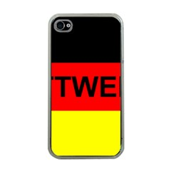 Rottweiler Name On Flag Apple iPhone 4 Case (Clear)