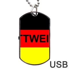 Rottweiler Name On Flag Dog Tag USB Flash (Two Sides)