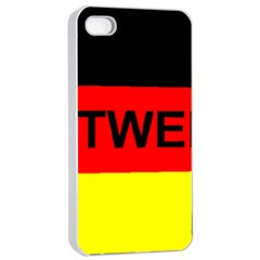 Rottweiler Name On Flag Apple iPhone 4/4s Seamless Case (White)