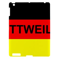 Rottweiler Name On Flag Apple iPad 3/4 Hardshell Case