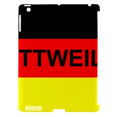 Rottweiler Name On Flag Apple iPad 3/4 Hardshell Case (Compatible with Smart Cover)