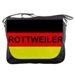 Rottweiler Name On Flag Messenger Bags