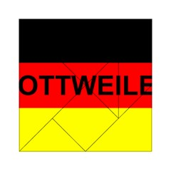 Rottweiler Name On Flag Acrylic Tangram Puzzle (6  x 6 )