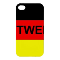 Rottweiler Name On Flag Apple iPhone 4/4S Premium Hardshell Case