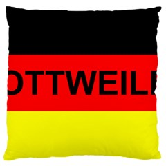 Rottweiler Name On Flag Large Cushion Case (One Side)