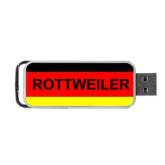 Rottweiler Name On Flag Portable USB Flash (One Side)