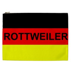 Rottweiler Name On Flag Cosmetic Bag (XXL)
