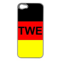 Rottweiler Name On Flag Apple iPhone 5 Case (Silver)
