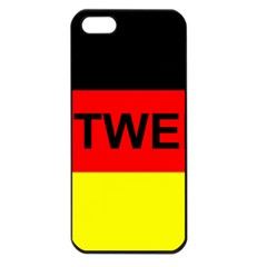 Rottweiler Name On Flag Apple iPhone 5 Seamless Case (Black)