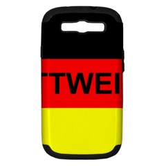 Rottweiler Name On Flag Samsung Galaxy S III Hardshell Case (PC+Silicone)