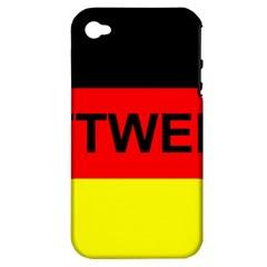 Rottweiler Name On Flag Apple iPhone 4/4S Hardshell Case (PC+Silicone)