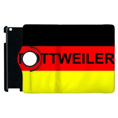 Rottweiler Name On Flag Apple iPad 2 Flip 360 Case