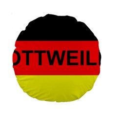 Rottweiler Name On Flag Standard 15  Premium Round Cushions