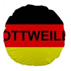 Rottweiler Name On Flag Large 18  Premium Round Cushions