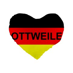 Rottweiler Name On Flag Standard 16  Premium Heart Shape Cushions