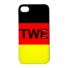 Rottweiler Name On Flag Apple iPhone 4/4S Hardshell Case with Stand