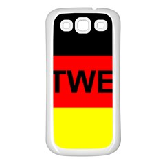 Rottweiler Name On Flag Samsung Galaxy S3 Back Case (White)