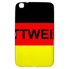 Rottweiler Name On Flag Samsung Galaxy Tab 3 (8 ) T3100 Hardshell Case