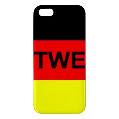 Rottweiler Name On Flag iPhone 5S/ SE Premium Hardshell Case