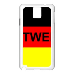 Rottweiler Name On Flag Samsung Galaxy Note 3 N9005 Case (White)