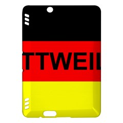 Rottweiler Name On Flag Kindle Fire HDX Hardshell Case