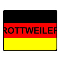Rottweiler Name On Flag Double Sided Fleece Blanket (Small)