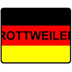 Rottweiler Name On Flag Double Sided Fleece Blanket (Medium)