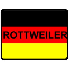 Rottweiler Name On Flag Double Sided Fleece Blanket (Large)