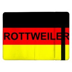 Rottweiler Name On Flag Samsung Galaxy Tab Pro 12.2  Flip Case
