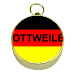 Rottweiler Name On Flag Gold Compasses