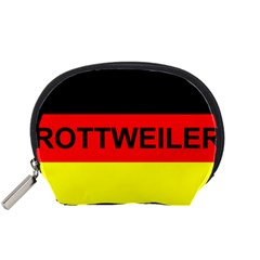 Rottweiler Name On Flag Accessory Pouches (Small)