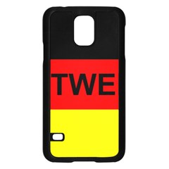 Rottweiler Name On Flag Samsung Galaxy S5 Case (Black)
